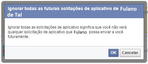 Ignorar futuras solicitações